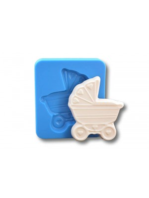 Wózek - dekoracje cukiernicze formy silikonowe