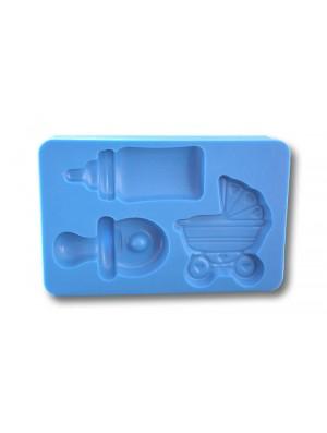 Zestaw smoczek + wózek + butelka - Forma Silikonowa