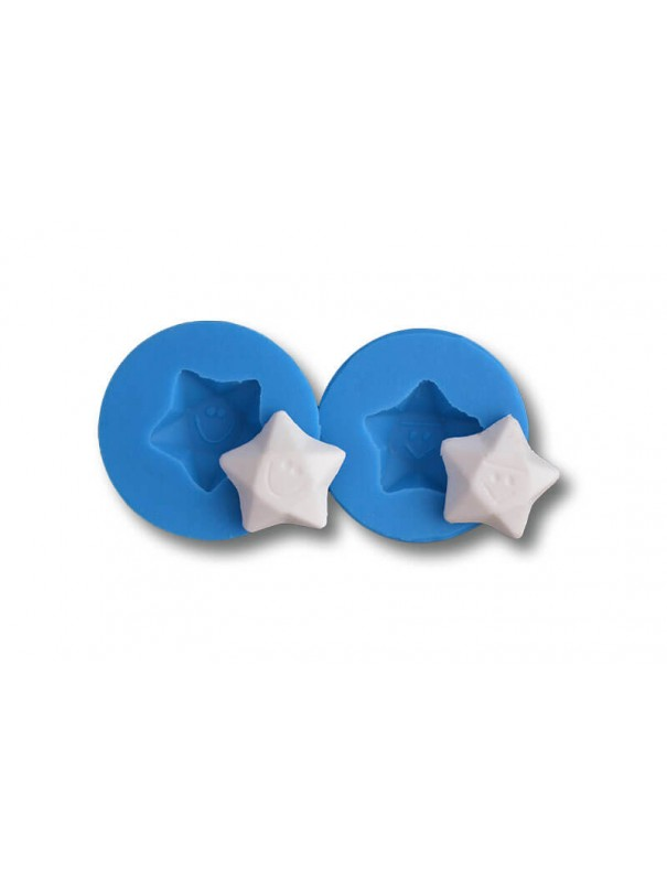 Gwiazdki - dekoracje cukiernicze formy silikonowe