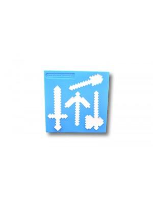 Narzędzia Minecraft - formy silikonowe do masy cukrowej