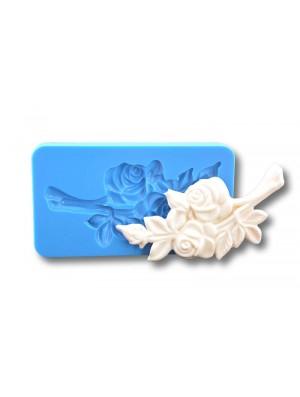 Gałązka z różami- Forma Silikonowa