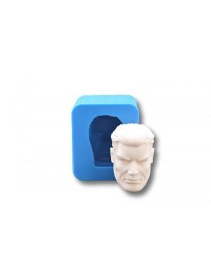 głowa męska forma silikonowa wraz z odlewem