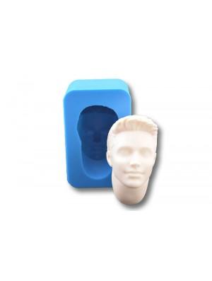 głowa męska 4 z szyją forma silikonowa wraz z odlewem