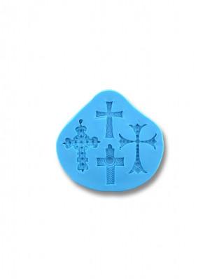 Krzyżyki Małe - formy silikonowe do masy cukrowej