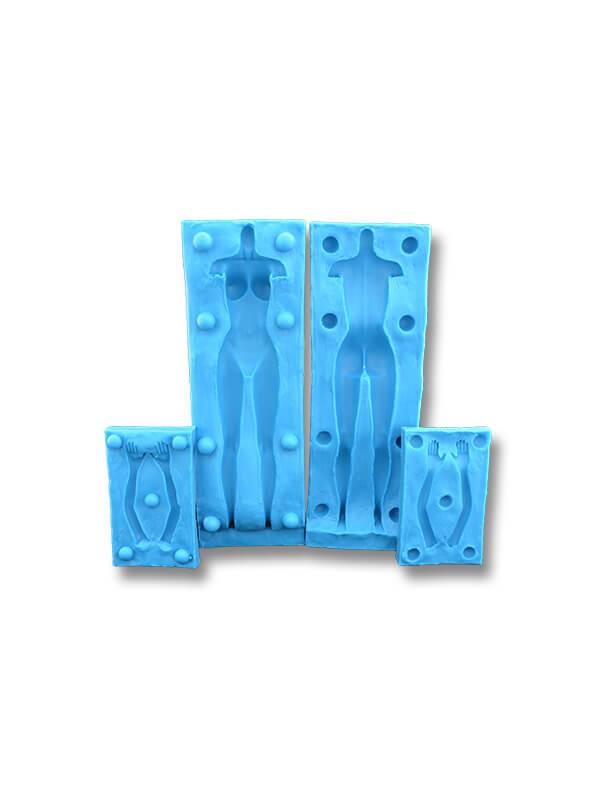 Forma damska 3D - dekoracje cukiernicze formy silikonowe